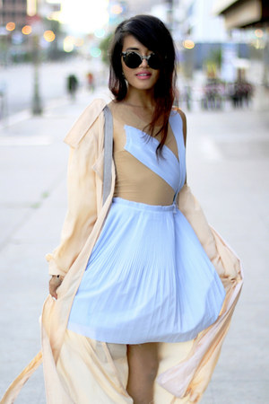 sky blue unknown dress