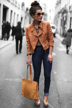 brown Zara jacket