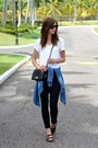 Black-topshop-jeans-black-chanel-bag-dark-brown-ray-ban-sunglasses