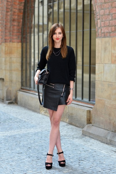 black American Apparel sweater - black PROENZA SCHOULER bag