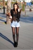 black Zara tie