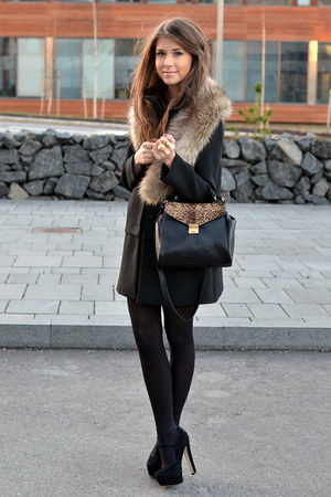 beige fur Topshop accessories