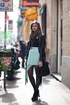 light blue chiffon Zara skirt