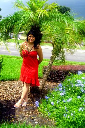 orange borrowed dress