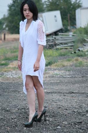 DIY hanes dress - YSL shoes