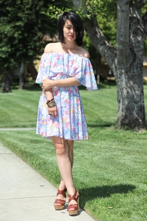 vintage dress - Chloe shoes
