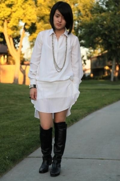 DSW boots - Alexander Wang dress