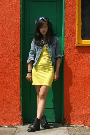 H&M dress - Hermes CDC accessories - a&f jeans - Timberland shoes