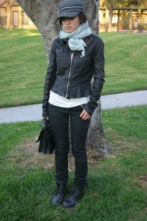 Cavalli for H&M jeans - H&M scarf - vintage purse - Rick Owens jacket - H&M top