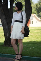 forever 21 skirt - alaia shoes - vintage blouse