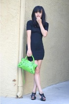 aa dress - Christian Louboutin shoes - balenciaga purse