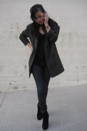 Alexander Wang blazer - Gap jeans - American Apparel top - Zara shoes