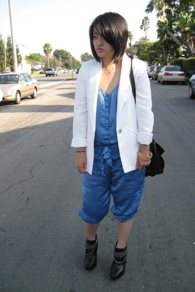 Zara blazer - Zara pants - sam edelman boots