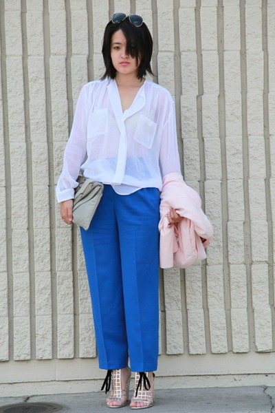 christian dior pants - vintage accessories - YSL shoes