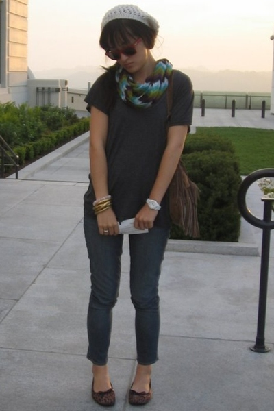 H&M scarf - Old Navy necklace turned bracelet accessories - Nordstrom shirt - Ri