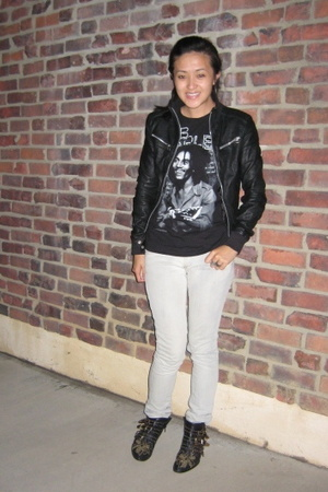 H&M jeans - Zara jacket - Bob Marley from LA County Fair t-shirt - Chloe shoes