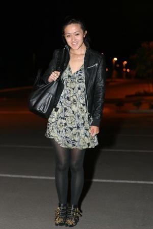 Topshop dress - Zara jacket - Chloe shoes - Givenchy purse - Target tights socks
