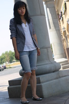 abercrombie & fitch jeans - James Perse t-shirt - Target blazer - Zanotti shoes