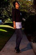Levis jeans - Nicolas Kirkwood shoes - f21 shirt - wren blazer