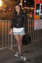 Zara jacket - Levis shorts - American Apparel Viscose top - Givenchy purse
