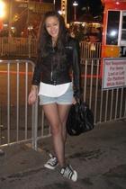 Zara jacket - Levis shorts - American Apparel Viscose top - Givenchy purse