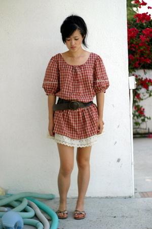 vintage dress - Old Navy belt - Target shoes