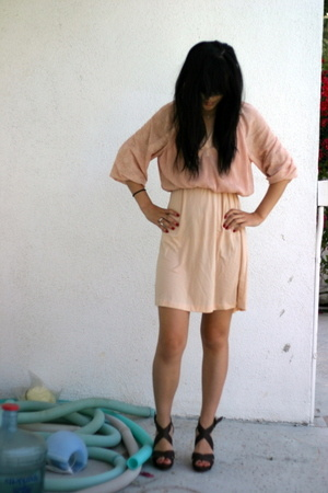 vintage dress - Zara shoes