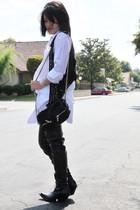 Alexander Wang dress - Givenchy boots - Zara vest
