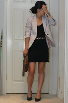 H&M dress - f21 purse - Zara blazer - vintage belt