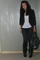 Elizabeth & James blazer - Alexander Wang t-shirt - Target jeans - balenciaga pu