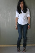 Gap jeans - Target shirt - Hermes bracelet - Givenchy shoes - from Israel bracel