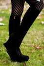 Gray-forever-21-cardigan-ysl-shoes-target-tights-american-apparel-dress