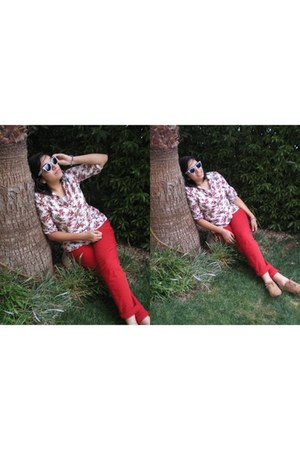 Aldo shoes - rayban sunglasses - Zara pants