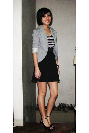 gray Terranova jacket - random dress - black random shoes