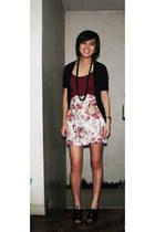 miss essentials blazer - random skirt - shoes