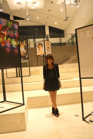 Zara blazer - intimate - GU skirt - 168 belt - shoes