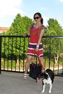 Red-lucky-brand-dress-purple-dkny-jeans-top-brown-homemade-jacket-white-ni