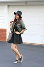 Black-sperry-shoes-black-bcbgeneration-dress-army-green-forever-21-jacket