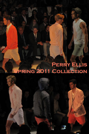 orange Perry Ellis shirt