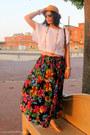 Mustard-fedora-callanan-hat-yellow-asos-bag-hot-pink-vintage-skirt-gold-ol