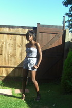 Motel shorts - Topshop shoes - Vintage Angels Sale belt - vintage sunglasses