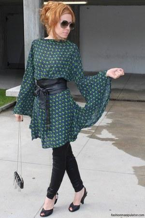 tissot watch - audley shoes - dress - faux leather Zara leggings - Mango bag