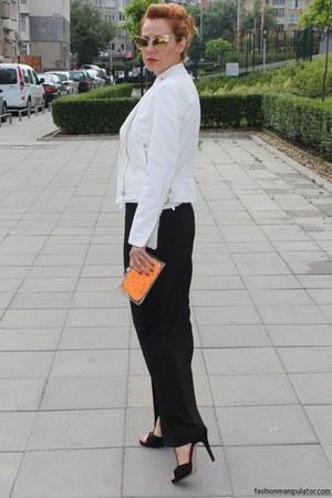 Zara bag - Musette shoes - biker jeans Mango jacket