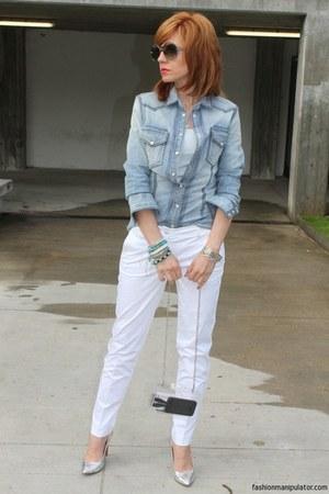 denim Dolce & Gabbana shirt - silver Musette shoes - box Zara bag