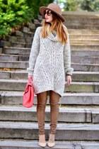 neutral Zara shoes - brown Zara hat - neutral H&M jumper