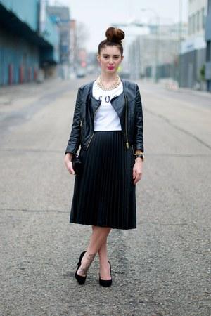 black Zara skirt - black H&M jacket
