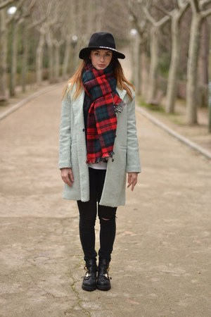 aquamarine Sheinside coat - red Zara scarf