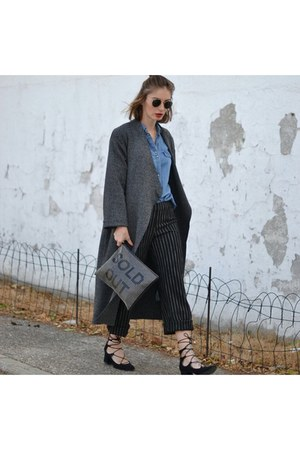 gray jacket - black Zara pants