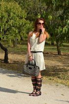 Zara dress - black christian dior bag - crimson Prada sunglasses