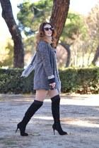 black Zara boots - Zara jacket